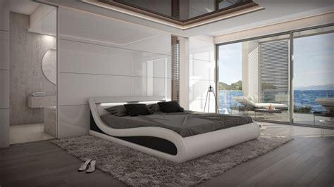 lit lumineux avec leds  cm blanc  noir aspen
