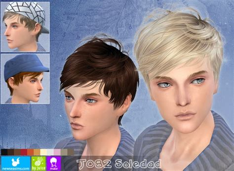 J082 Soledad Hair For Males At Newsea Sims 4 » Sims 4 Updates