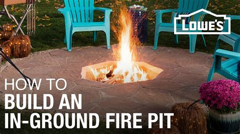 build   ground fire pit youtube