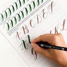 Free Basic Brush Pen Calligraphy Worksheet  The Postman's Knock