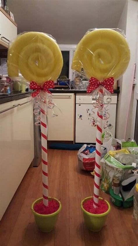 exciting christmas decorations created  pool noodles