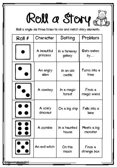 roll a story free sle from narrative packet 2nd