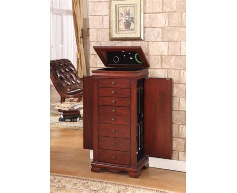 locking jewelry armoire marquis 8 drawer locking jewelry armoire product