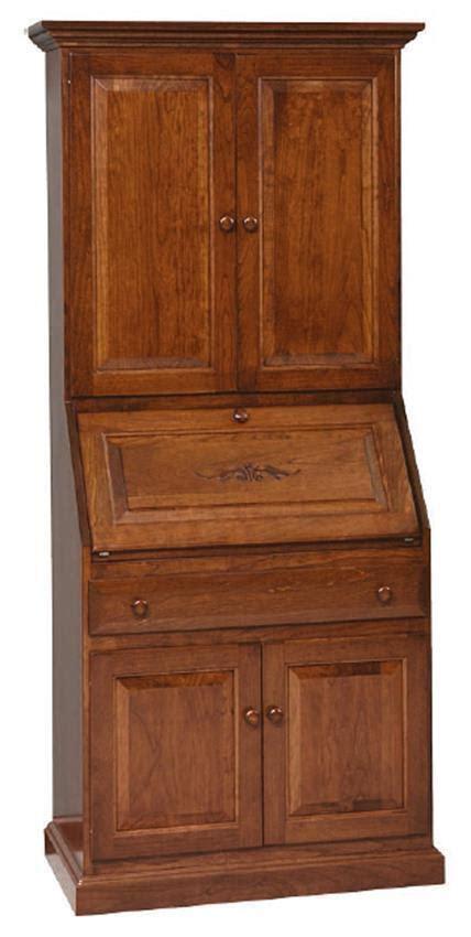 solid wood secretary desk hutch  dutchcrafters amish