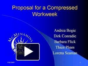ppt proposal for a compressed workweek powerpoint With compressed work week proposal template