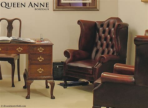 Poltrona Chester Queen Anne : Poltrona Chesterfield Queen Anne Chester In Pelle