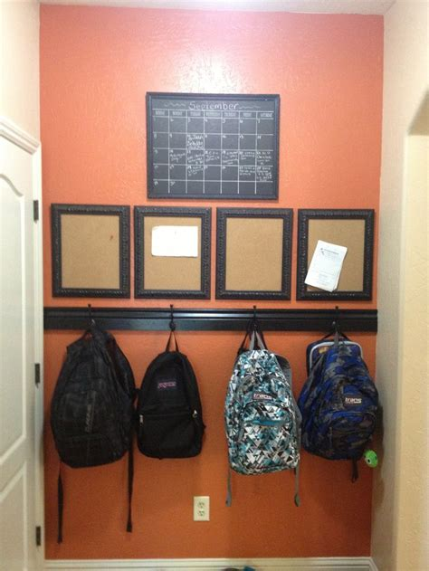 backpack storage ideas images  pinterest