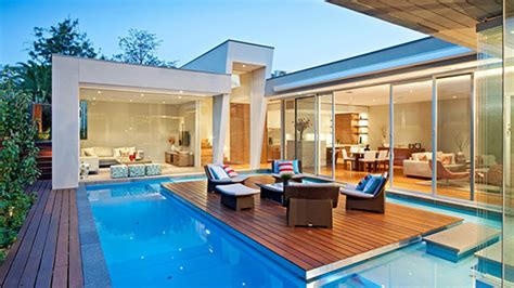 Online Deck Design Software by This Australian House Has A Pool With An Island And