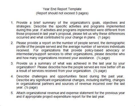 End Of Year Financial Report Template 18 End Of Year Report Templates Free Sle Exle
