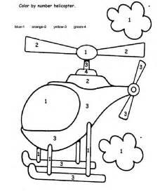 Color By Number Helicopter  Skolteman  Pinterest  Crafts, Colors And Worksheets