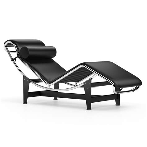 le corbusier chaise chaise longue le corbusier lc4 chaise longue black