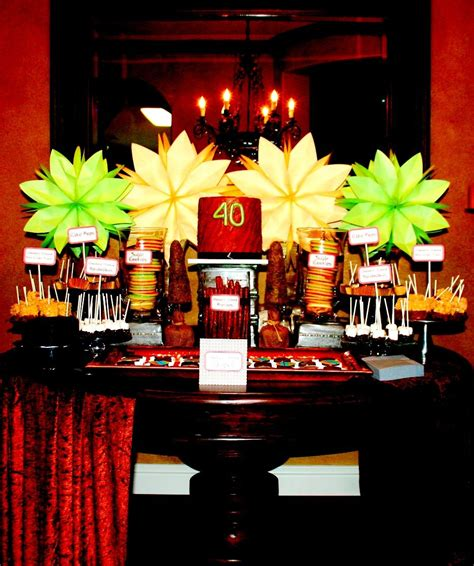 Depending on the age of the kids coming to the party, the venue of the party, the time of the party and the total number of guests you would have to serve at the party, the menu of the party needs to be decided. 40th Birthday Dessert Bar (With images) | Birthday desserts, Party desserts, Candy buffet