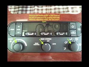 Fix  Replace Chrysler Town  U0026 Country A  C Control Backlight