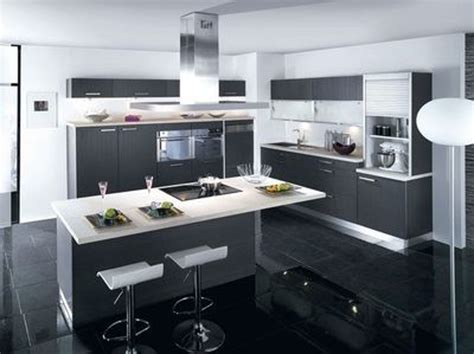 modele de cuisine avec ilot central deco cuisine moderne