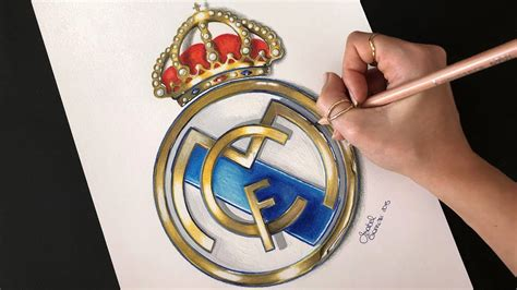 real madrid logo drawing youtube