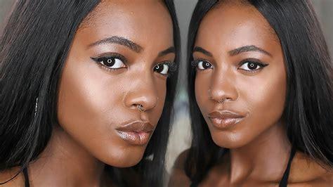 spring summer foundation routine glowing golden dewy skin  dark brown skin talk