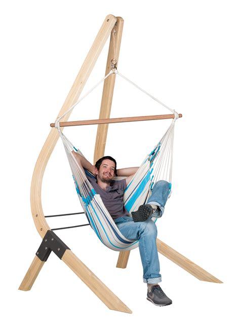 support hamac siege la siesta chaise hamac basic caribeña aqua blue