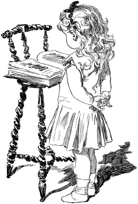 Girl Reading | ClipArt ETC