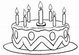 Coloring Cake Birthday sketch template