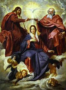 The Coronation of the Virgin - Diego Velazquez Painting