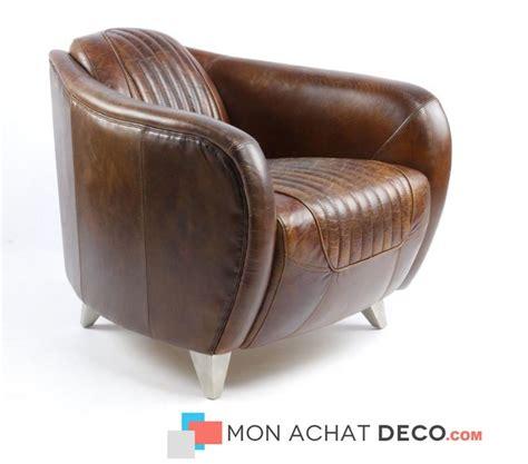 fauteuil club aviateur daytona cuir marron produit neuf la rochelle 17000 meubles pas