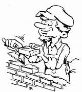 Coloring Helpers Bricklayer Barber Working Getdrawings Netart sketch template