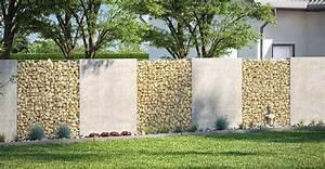 Gabionen Als Sichtschutz : gartenmauer ganz einfach selber bauen obi gartenplaner ~ Buech-reservation.com Haus und Dekorationen