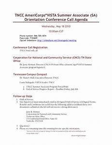 may 18 2011 sa orientation conference call agenda With conference call meeting agenda template