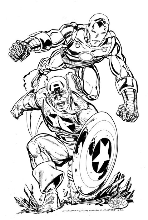 Iron Man & Captain America by John Byrne | Marvel comics