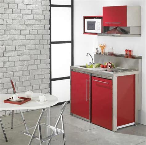 cuisine en angle la kitchenette moderne équipée et sur optimisée