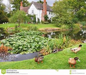 Medieval English Manor House And Garden Royalty Free Stock ...