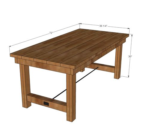 outdoor table dimensions ana white happier homemaker farmhouse table diy projects