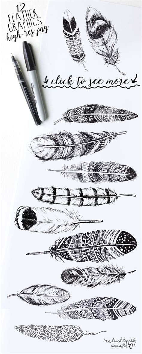 modeles dessins tatouages plumes pour idees tatouage femme