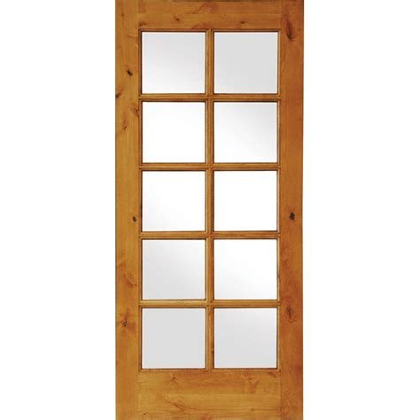 home depot solid wood interior doors krosswood doors 36 in x 80 in knotty alder 10 lite low e