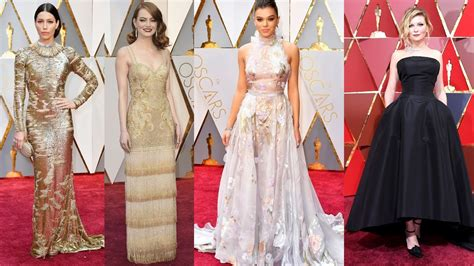 Best Dressed Celebrities Oscars Red Carpet