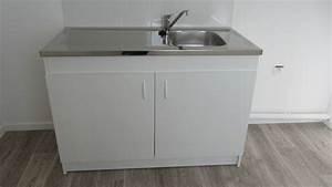 Evier Avec Meuble : meuble avec evier inox ~ Teatrodelosmanantiales.com Idées de Décoration