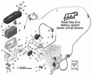 Rotax Max Evo Battery  Starter  Ignition  Wiring Harness