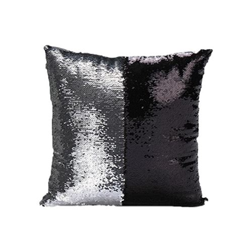 reversible sequin mermaid pillow reversible mermaid sequin glitter pillow cover sofa 4840
