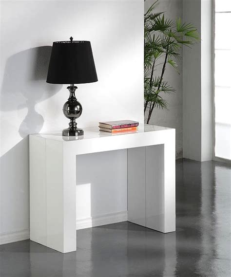 redoute bureau table console extensible glossy blanc laquee table