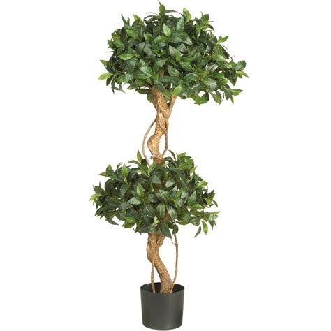 Nearly Natural 4 Ft Sweet Bay Double Ball Topiary Silk