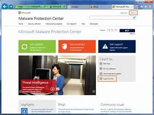 ShiroYuki_Mot の ひとりごと: VS 公開したファイルと Malware Protection Center