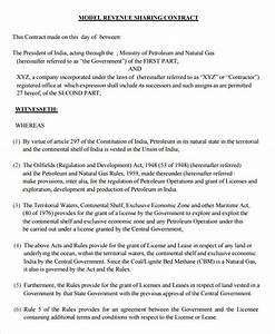 profit sharing agreement 7 free pdf doc download With revenue sharing contract template