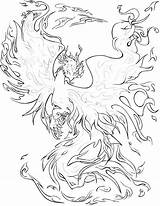 Coloring Adults Google Complex Adult Fire Dragon Drawing Phoenix Colouring sketch template