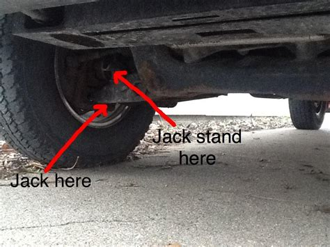 placement  jack stands   ford ranger  westpac
