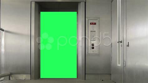 elevator doors closing green screen elevator doors open and clip 10865917