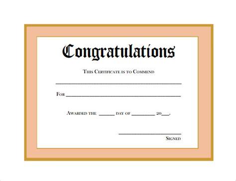 certificate templates sample templates