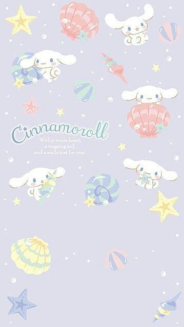It will be a cute, fresh pink during the daytime, and a sweet purple during the evening! Cinnamoroll (With images)   Sanrio wallpaper, Hello kitty wallpaper, Kawaii wallpaper