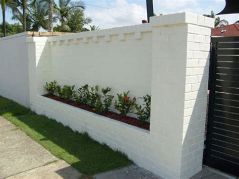 brick fence designs brick fences here s a white brick fence with bui