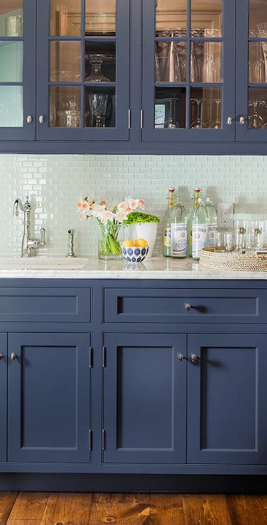 Painted Navy Blue Kitchen Cabinets