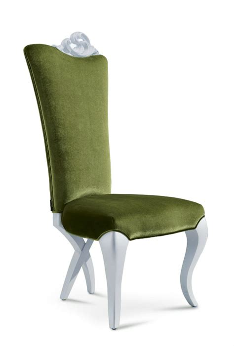 modern dining chair green velvet